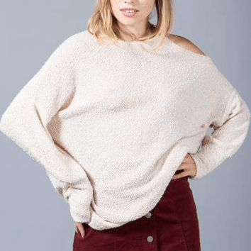 One Cold Shoulder Knit Top