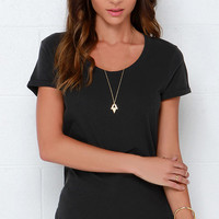 RVCA Label Pippi 2 Washed Black Tee