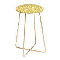 Heather Dutton Trevino Yellow Counter Stool