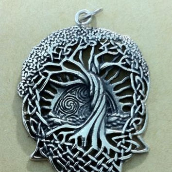 TREE OF LIFE in the beginning Pendant sterling silver