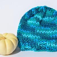 Knit baby hat for infant, toddler or child machine washable merino wool MADE TO ORDER