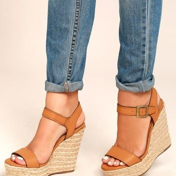 Rena Tan Espadrille Wedges