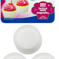 Sweetbake Mini White Paper Baking Cups Case Pack 24