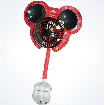 Disney Parks Mickey Mouse Clip-On Fan New With Card