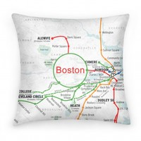 Boston Transit Pillow