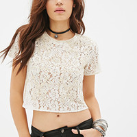 Beaded Lace Crop Top