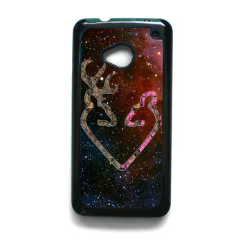 Browning Style Heart Buck Doe Deer Sticker Decal Duck Hunting for HTC ONE M7/M8/M9 phonecases