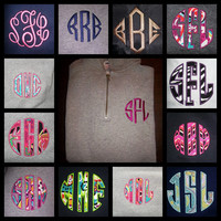 MONOGRAMMED PERSONALIZED quarter zip SWEATSHIRT