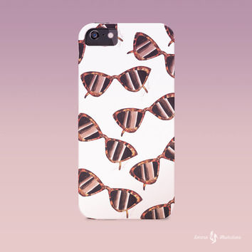 Sunglasses case, Summer Iphone case, Fashion iphone case, Iphone Case, Iphone 6 case , Iphone 5 case, Iphone 4 case,  iphone cover