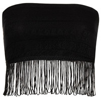 Lace Bandeau with Fringing - New In This Week - New In - Topshop