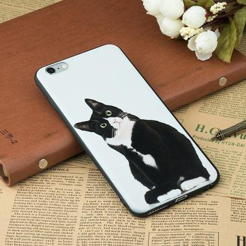 Cat and Dog portrait cover cases for iPhone