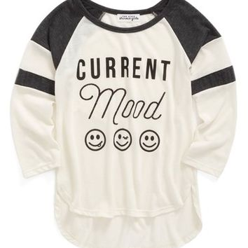 Ten Sixty Sherman 'Current Mood' Raglan Tee (Big Girls) | Nordstrom