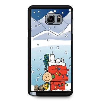 Charlie And Snoopy Brown Christmas Samsung Galaxy Note 5 Case