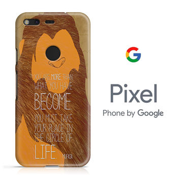Lion King Simba Mufasa Quotes Google Pixel Phone 3D Case
