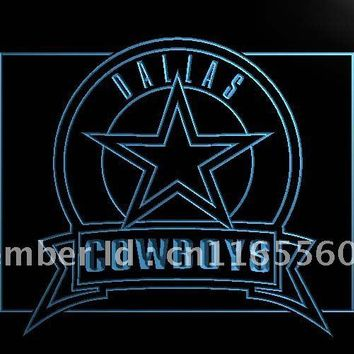 LD483- Dallas Cowboys Badge   LED Neon Light Signn     home decor shop crafts