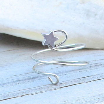 Star Upper Finger Ring Knuckle Ring Pinky