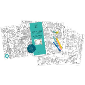 Citymap Coloring Paper Placemats - A+R Store