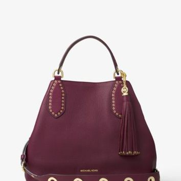 Brooklyn Large Leather Shoulder Bag | Michael Kors