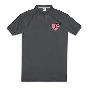 NJ Apparel Cute Dope Gene Heart Men's Summer Polo Shirt Black Size S