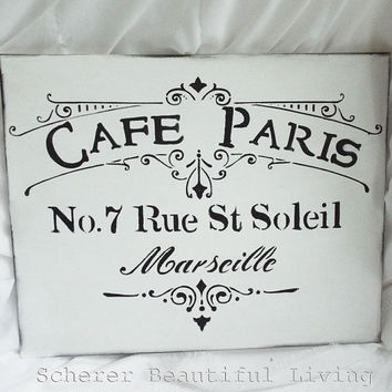 White French Paris Sign Black Plaque Sign Wall Decor Made from Salvaged Wood Sign