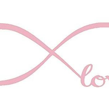 Pink 22'' X 61'' Wall Stickers, Franterd Bedroom Decor Infinity Symbol Word Love Vinyl Art Decal