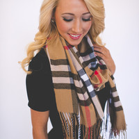 Plaid Scarf- Brown