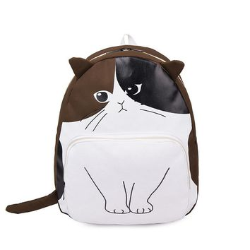 Cartoon Cat Pringing Women Backpacks Personality Backpacks for Teenage Girls Bagpack Korean Female Travel Bag Bolsa Mochila