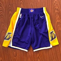 Nike NBA Kobe Bryant New Popular Men Women Loose Embroidery Mesh Breathable Training Sport Basketball Shorts I13380-1