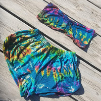 Tie Dyed Bandeau Shorts Set **Only One Available**