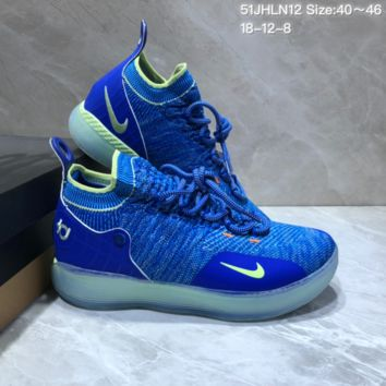 KHCXX N685 Nike Zoom KD11 Mid XI Men Actual Baketball Shoes Blue Green