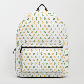 Yellow and green raindrops Backpack by Savousepate