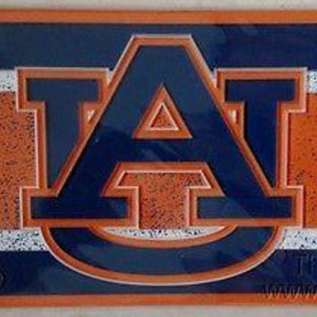 Auburn Tigers VINTAGE Style Deluxe Acrylic Laser License Plate Tag University of