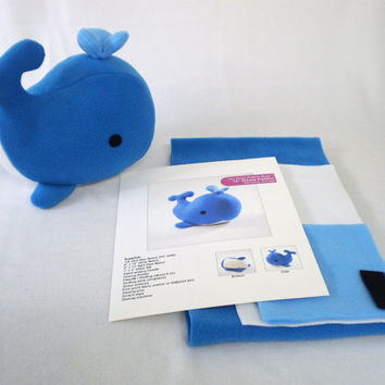 Whale Plushie Pattern - Worksheet & Coloring Pages