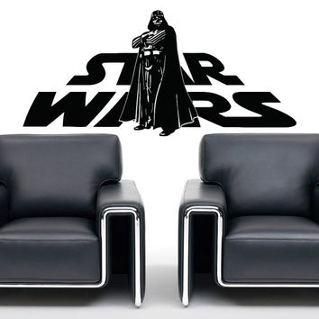 Star Wars Wall Decals Murals Darth Vader Vinyl Sticker Decal Wall Art Children Kids Nursery Boy Bedroom Dorm Home Decor Q089