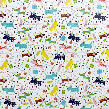 Birthday Party Gift Wrap Wrapping Paper, Barkday Dogs (8 Rolls 5ft x 30in)
