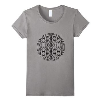 Classic Flower of Life T-Shirt Sacred Geometry Yoga New Age