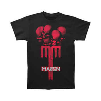 Marilyn Manson Men's  Skull Cross T-shirt Black Rockabilia