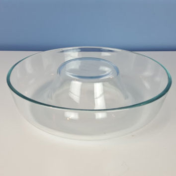 Vintage Pyrex France Bundt Pan, Glass Pyrex Baking Dish, Pyrex Cake Pan, Ring Mold Dish, Glass Bundt Pan, Vintage Bakeware Pyrex Bakeware