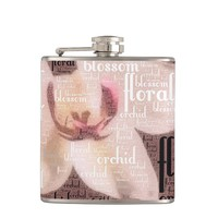 Orchid Floral Blossom Word Cloud Flask