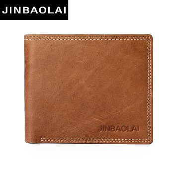 Leather Original Male Wallet Fashion Double Suture Design Bi Fold Wallets For Men High Quality Leather Wallet
