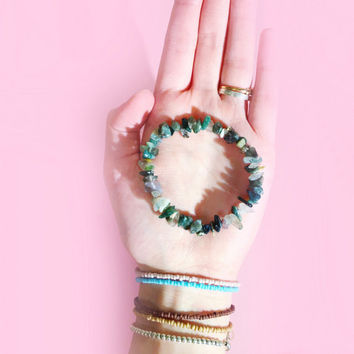Bohemian Mermaid Gem Chip Bracelet