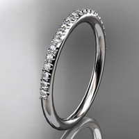 14k  white gold diamond unique wedding ring,engagement ring,wedding band,stacking ring ADER103