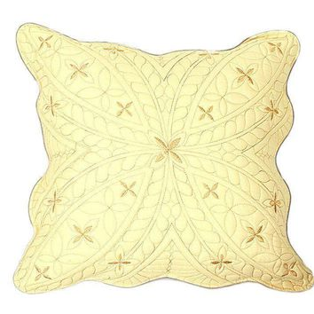 Tache 2 Piece Geometric Golden Stars Cushion Cover Set