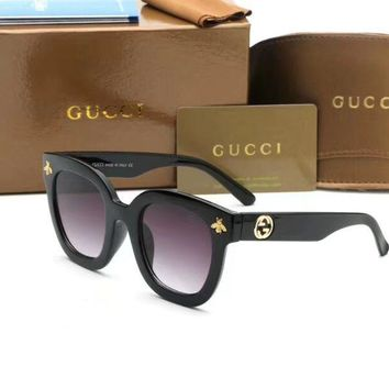 Gucci Fashion Women Men Vintage Sunglasses Metal Frame Mirror Sun Glasses Unique Flat Sunglasses I