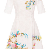 Floral Embroidered Mini Dress