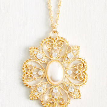 Ornate O'Clock Sharp Necklace | Mod Retro Vintage Necklaces | ModCloth.com