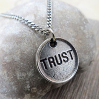 Men's Necklace - Men's Trust Necklace - Men's Silver Necklace - Mens Jewelry - Necklaces For Men - Jewelry For Men - Gift for Him