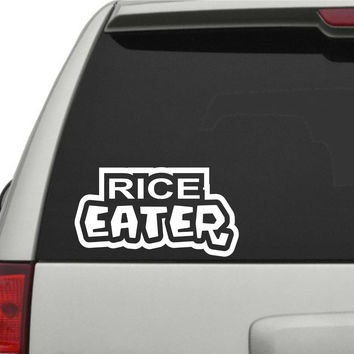 Rice Eater JDM Car Truck Window Windshield Lettering Decal Sticker Decals Sti...