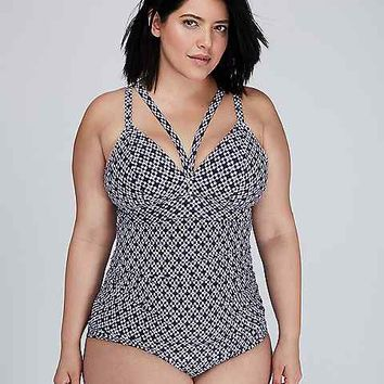 Triangle Cup Swim Tank with Built-In No-Wire Bra | Lane Bryant
