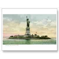 "Vintage ""Statue of Liberty"" Poster. New York. Postcards from Zazzle.com"
